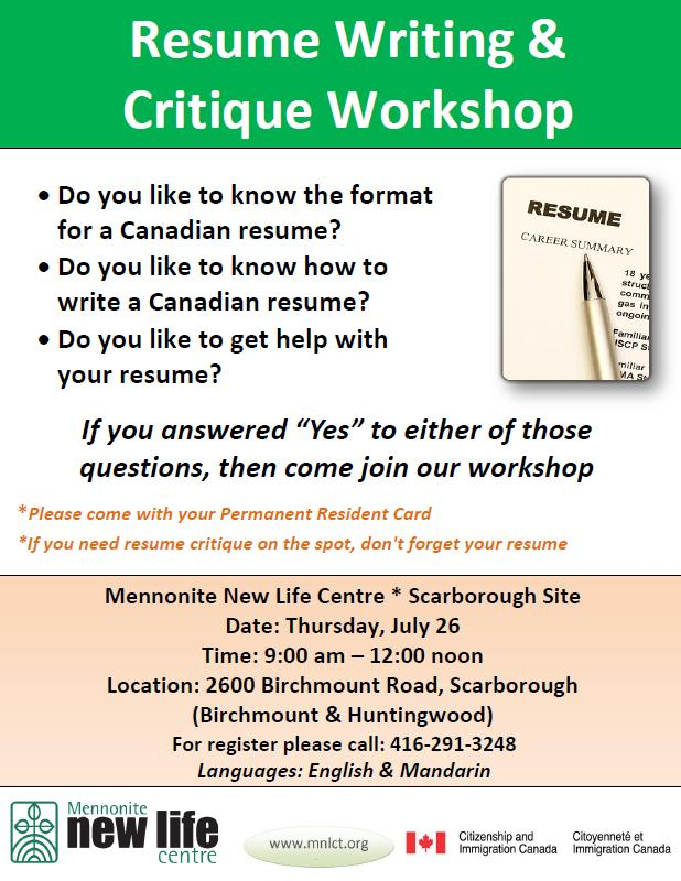 If You Need Resume Critique On The Spot, Donu0027t Forget Your Resume  Resume Writing Workshop