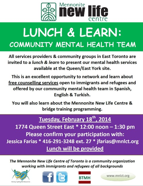 Lunch & Learn: Mental Health Services