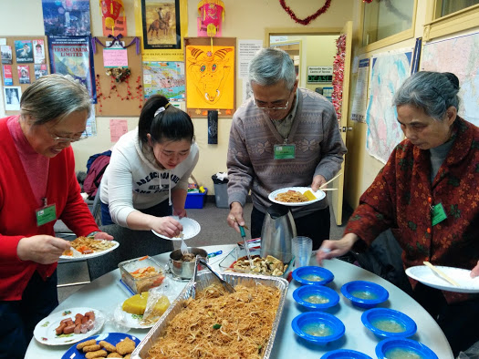 Seniors group celebrating the Chinese New Year