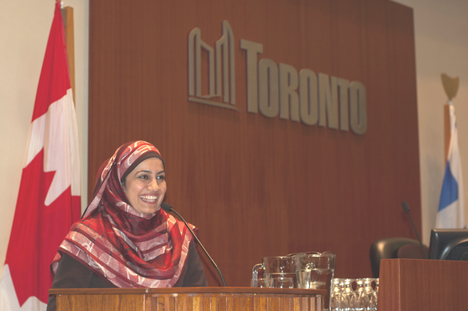 Newcomer Speakers Bureau at Toronto City Hall 2012