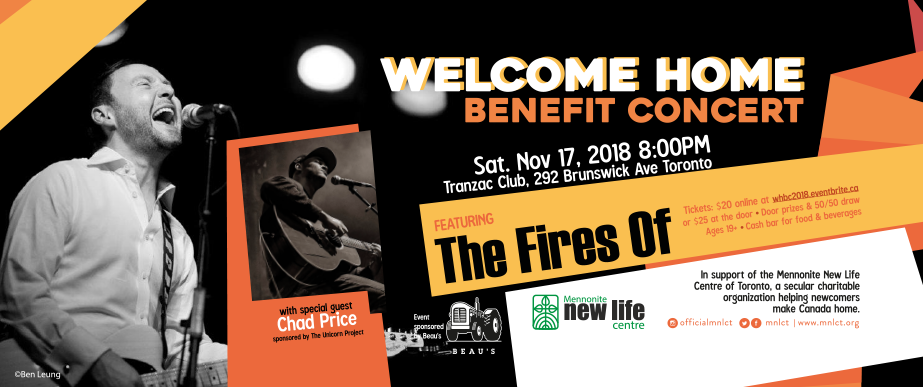 Welcome Home Benefit Concert, Featuring The Fires Of With Special Guest Chad Price