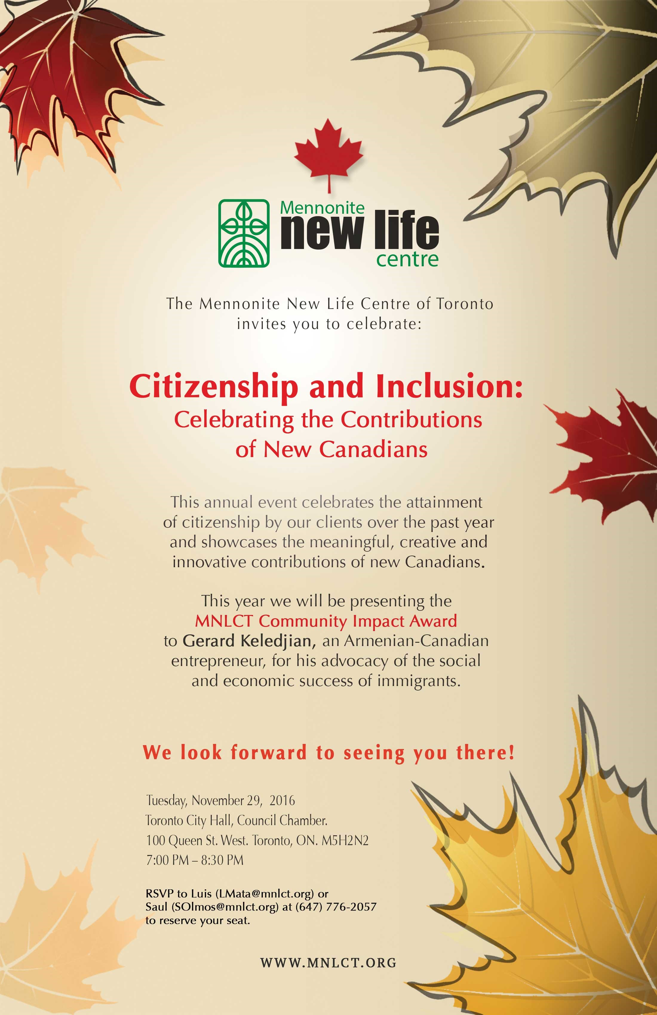 Citizenship & Inclusion Ceremony 2016