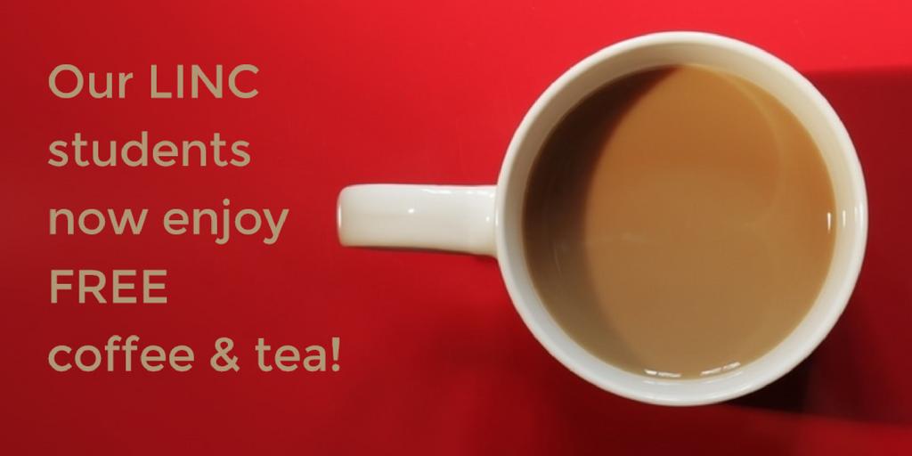 Free Coffee & Tea For LINC Students