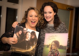 Samantha Martin and Jadea Kelly with their LPs