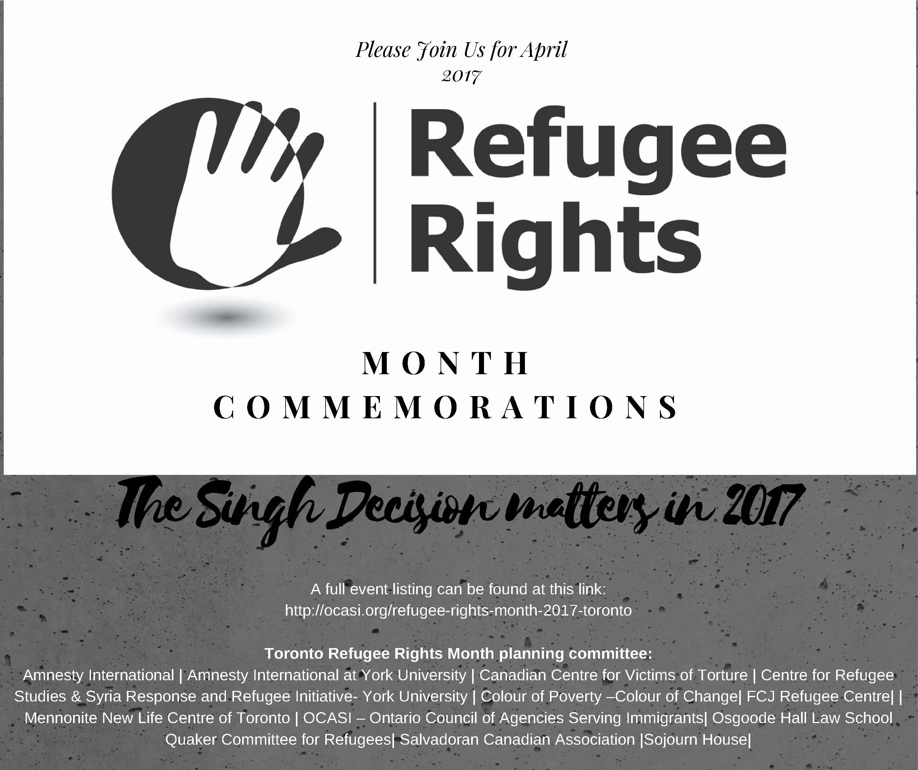 Refugee Rights Day FLYER 2017