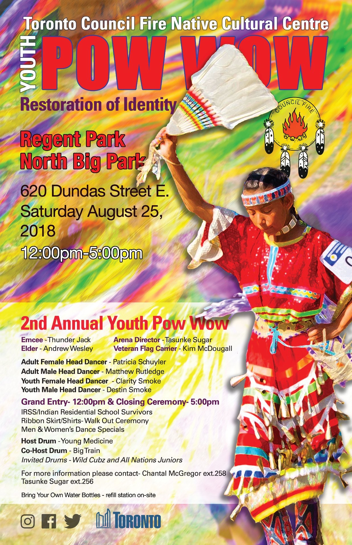 You Are Invited To Council Fire's Youth Pow Wow: Restoration Of Identity!