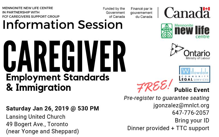 Caregivers Employment Standards & Immigration